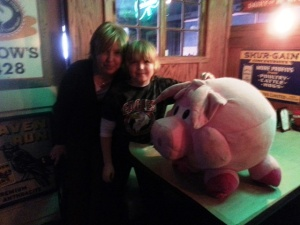 Donna and Erik at the One-Eyed Pig