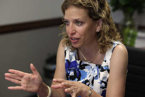 U.S. Representative Schultz speaks during the Reuters Washington Summit in Washington